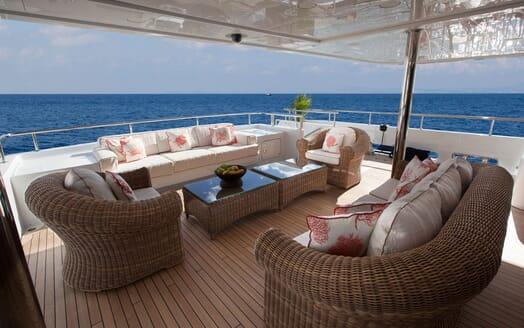 Motor Yacht GAZZELLA Aft Deck