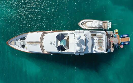 Motor Yacht T-ZERO Aerial Shot