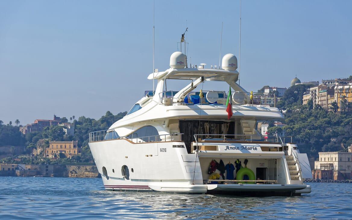 Motor Yacht Anne Marie aft shot