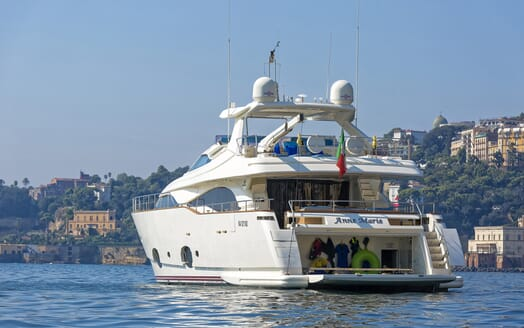 Motor Yacht Anne Marie aft shot