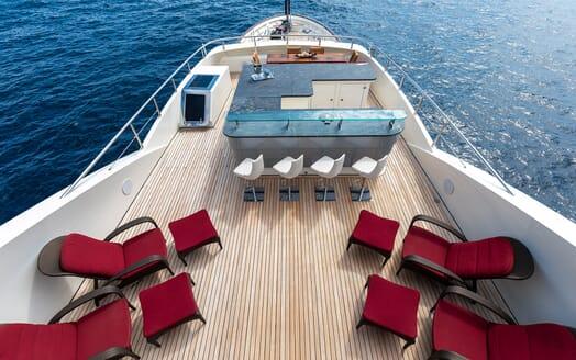 Motor Yacht Panakeia foredeck