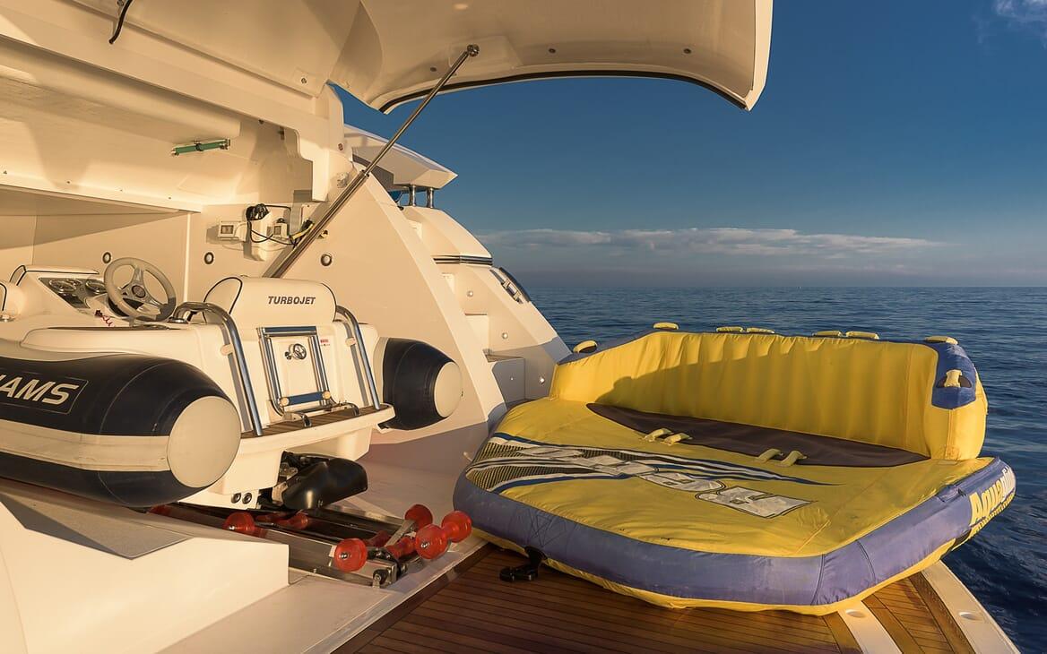 Motor Yacht Seawater tender shot