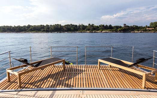 Sailing Yacht HUTIANE Aft Deck Loungers