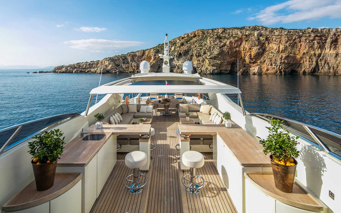 Motor Yacht Rini flydeck