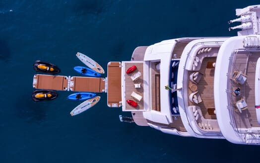 Motor Yacht BALISTA Aerial Swin Platform with Toys