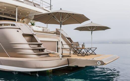 Motor Yacht YVONNE Aft Deck