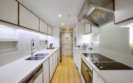 Motor Yacht Quaranta galley