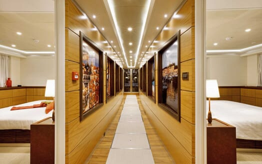 Motor Yacht Quaranta interior design