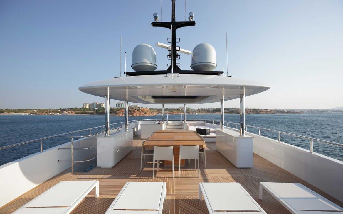 Motor Yacht Quaranta sundeck