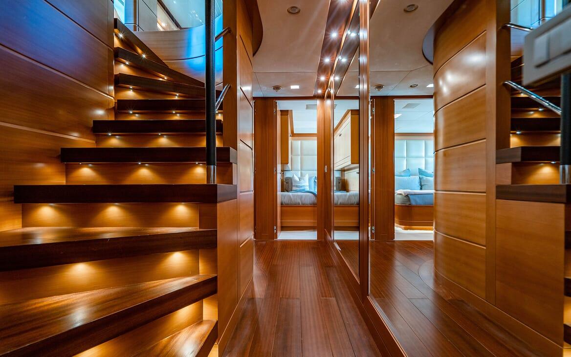 Motor Yacht LOVEBUG Staircase Lower