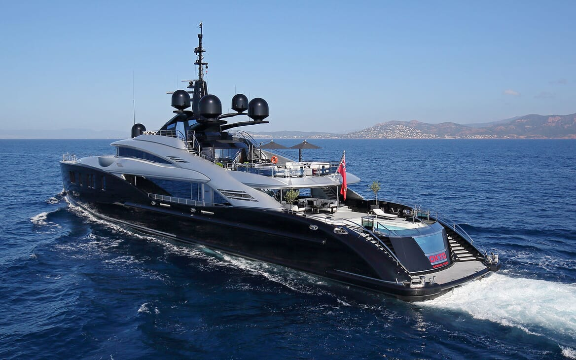 Motor Yacht OKTO Profile Underway