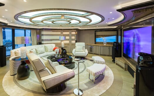 Motor Yacht OKTO Cinema Room