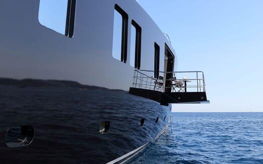 Motor Yacht OKTO Fold Down Deck Space