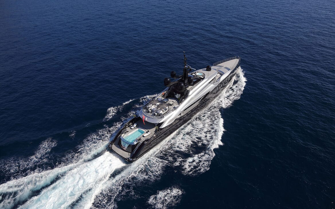 Motor Yacht OKTO Aerial
