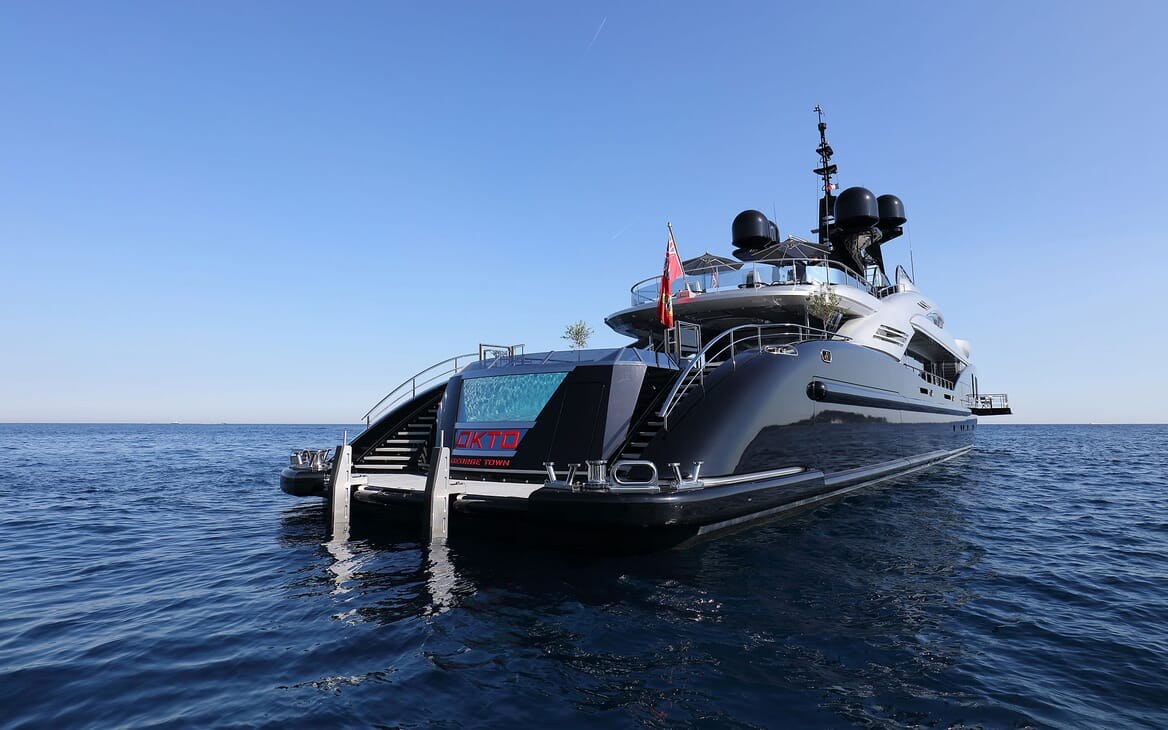 Motor Yacht OKTO Aft View