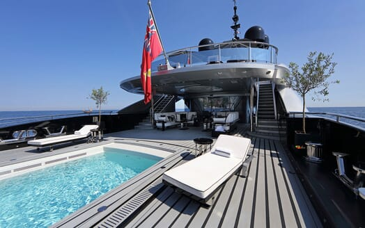 Motor Yacht OKTO Aft Deck Swimming Pool