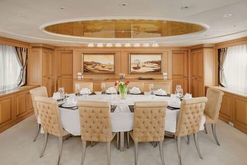 Motor Yacht DEEP STORY Dining Room