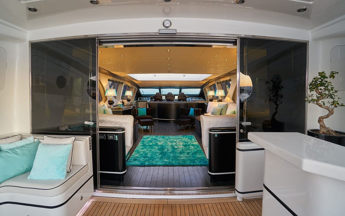Motor Yacht SHANE Doors to Saloon
