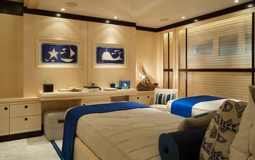 Motor Yacht SEA RHAPSODY Twin Guest Stateroom