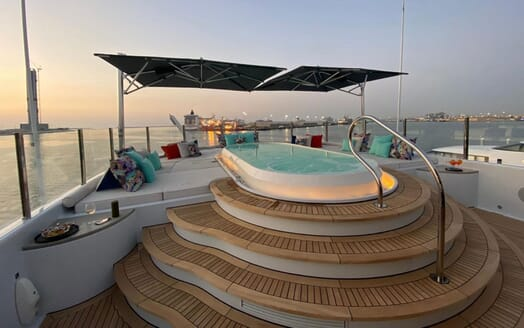 Motor Yacht SEA RHAPSODY Sun Deck Jacuzzi