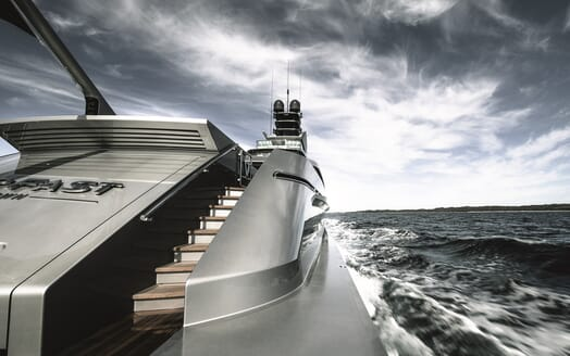 Motor Yacht Silver Fast Aft View