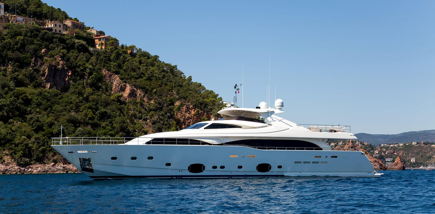 Motor Yacht Robusto Side on Profile