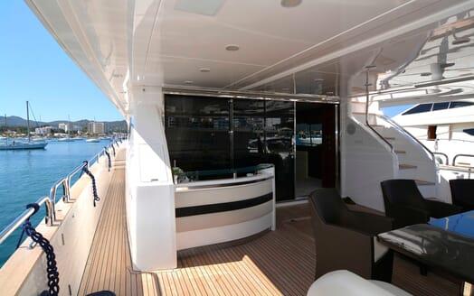 Motor Yacht Maestro of Gibraltar aft deck