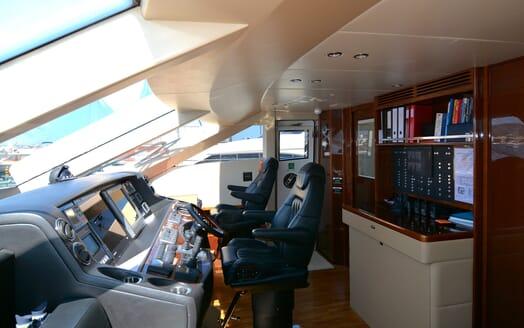 Motor Yacht Maestro of Gibraltar Wheelhouse