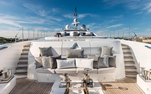 Motor Yacht Destiny foredeck