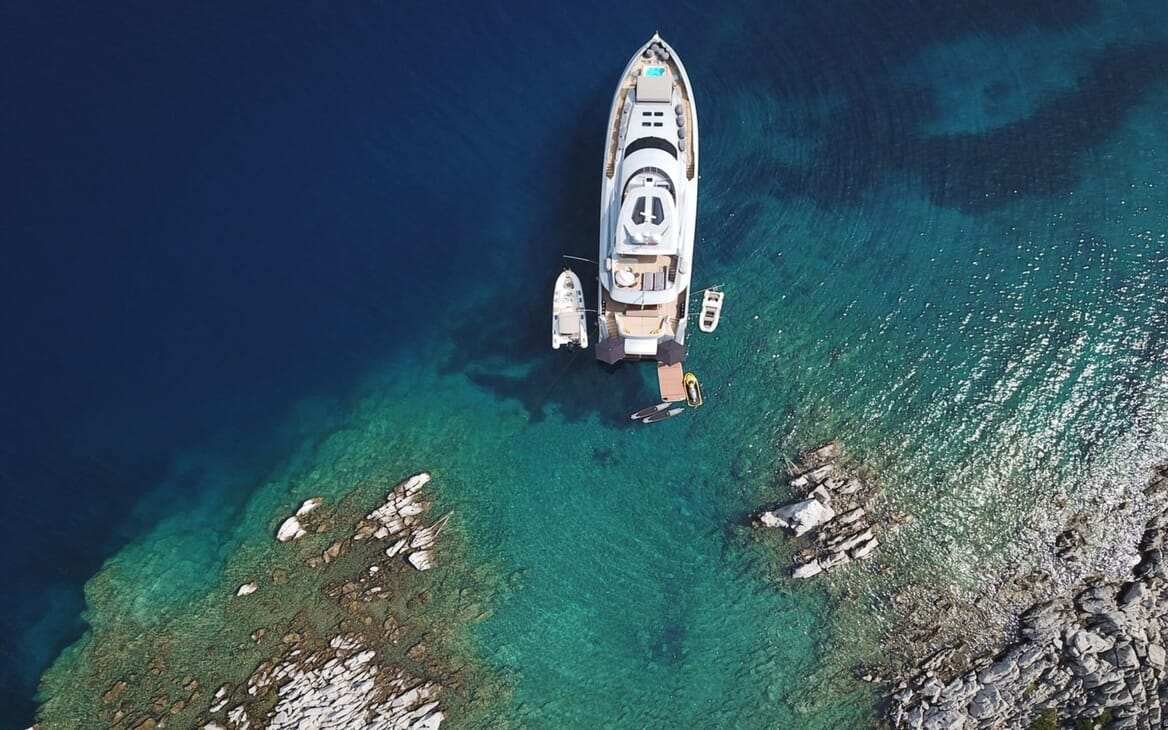 Motor Yacht Meya Meya aerial