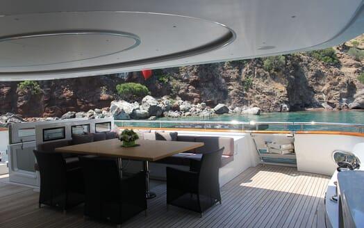 Motor Yacht LIBERTY Aft Deck
