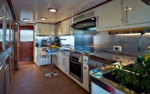 Motor Yacht Nightflower galley