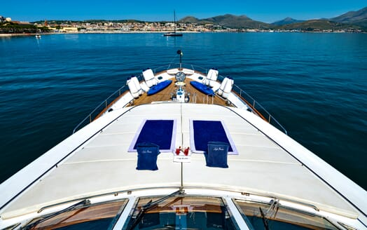 Motor Yacht Nightflower foredeck