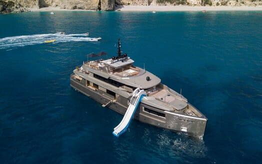 Motor Yacht Giraud Aerial Shot