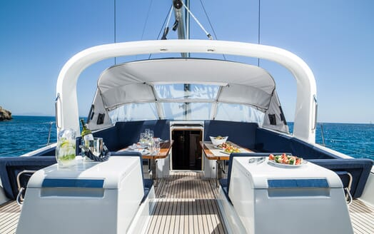 Sailing Yacht Thea sun deck