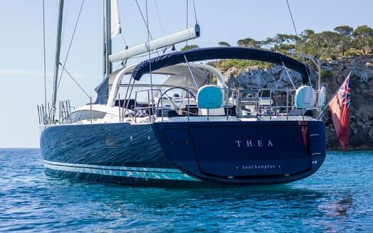Sailing Yacht Thea aft shot
