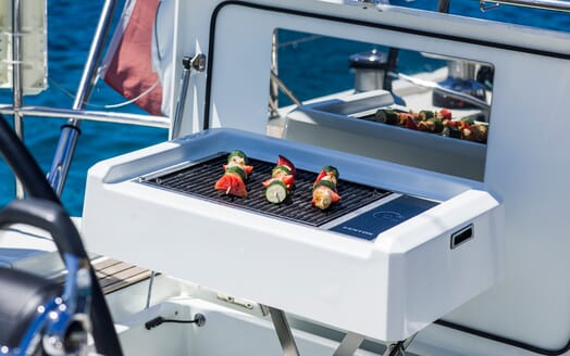 Sailing Yacht Thea barbecue