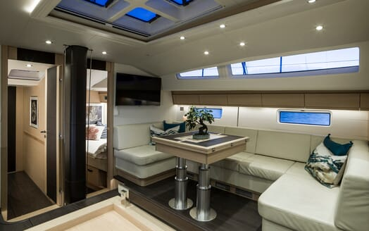 Sailing Yacht Thea main saloon