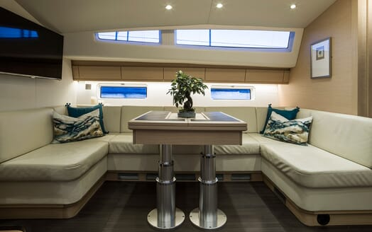 Sailing Yacht Thea living area