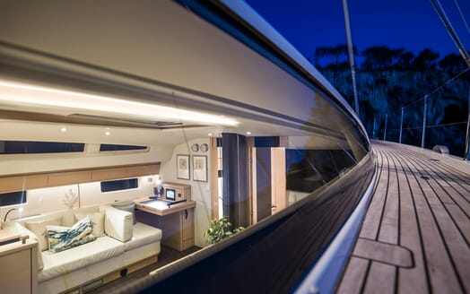 Sailing Yacht Thea side deck