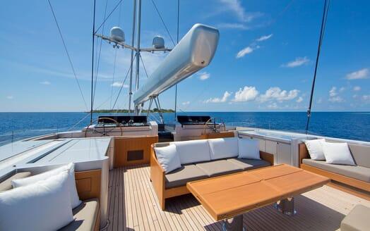 Sailing Yacht VERTIGO Sundeck and Wheelhouse