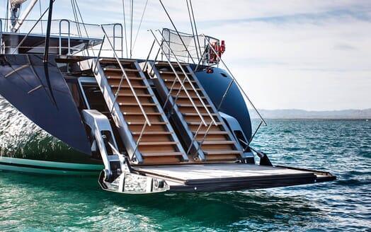Sailing Yacht VERTIGO Swim Platform