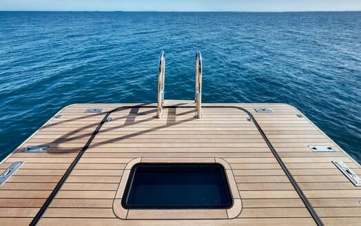 Sailing Yacht VERTIGO Swim Platform Ladder