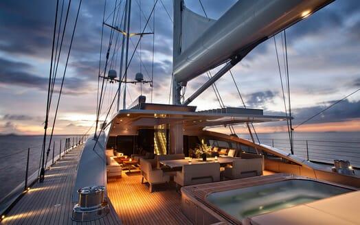 Sailing Yacht VERTIGO Aft Deck