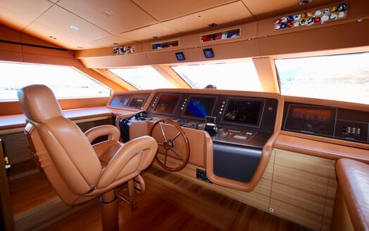 Motor Yacht Aventus Wheelhouse