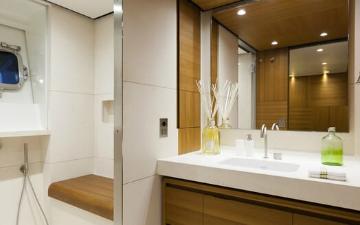 Motor Yacht Flying Dagger guest bathroom