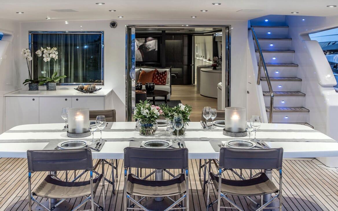 Motor Yacht PROJECT STEEL Al Fresco Dining