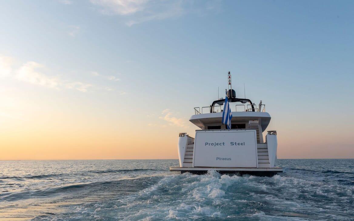 Motor Yacht PROJECT STEEL Aft