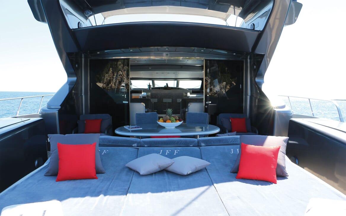 Motor Yacht JFF Aft Deck Sun Pad