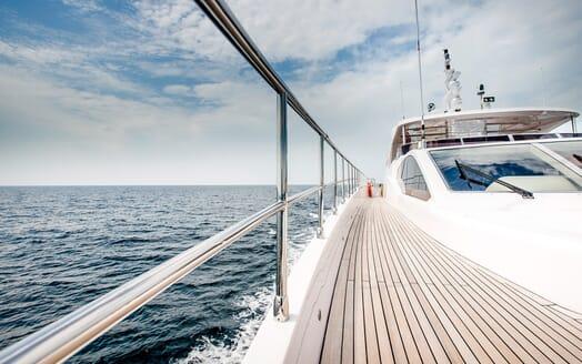 Motor Yacht Mykonos foredeck
